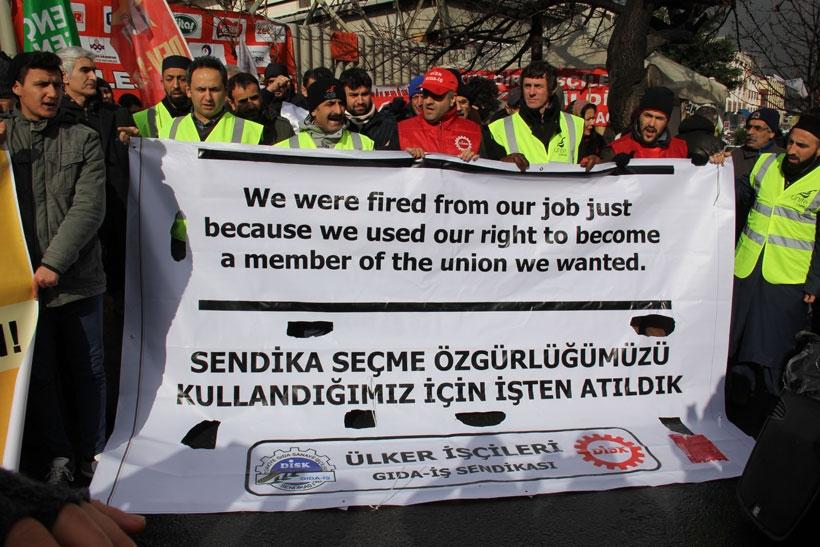 Ülker işçilerine uluslararası destek