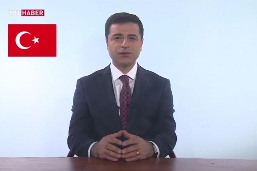 DEMİRTAŞ TRT'DE HALKA SESLENDİ