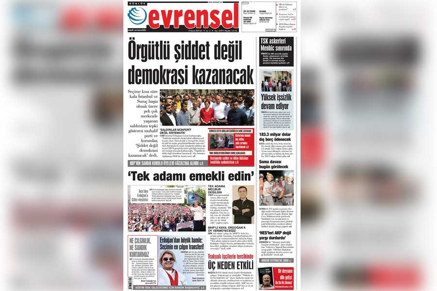 EVRENSEL'İN DAĞITIMINA ENGEL