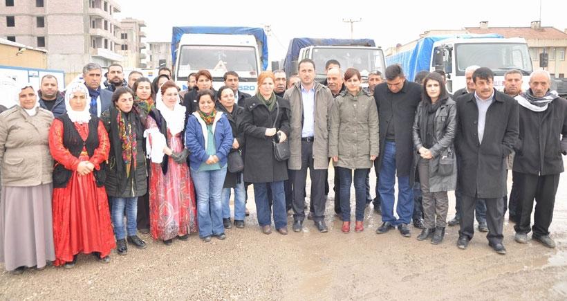 Belediye eş başkanları Kobanê'ye geçti