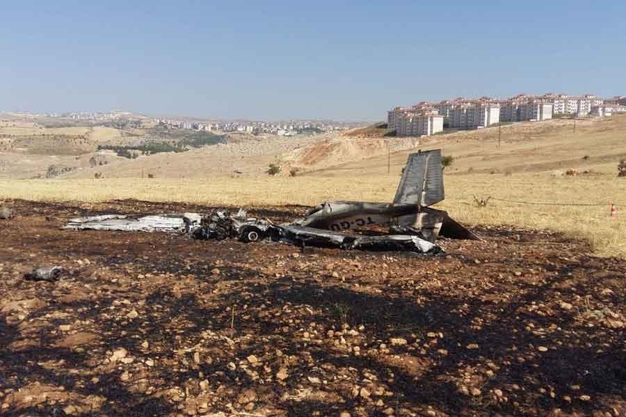 Gaziantep Üniversitesine ait eğitim uçağı Adıyaman'da düştü