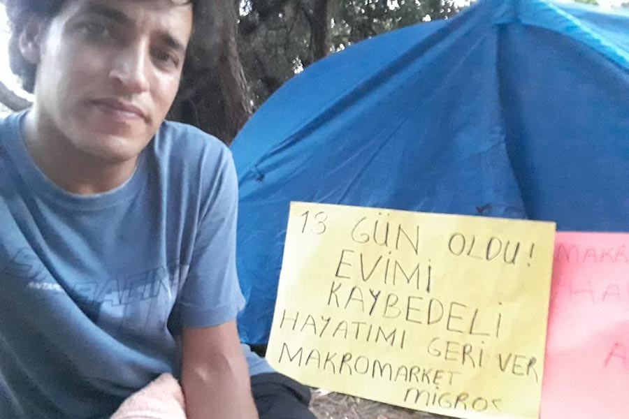 Evini kaybetti, çadırda kalıyor: İnsanlığa son mektup