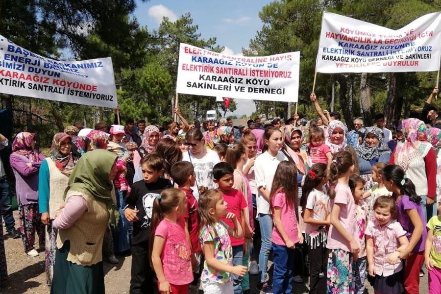 Bursa'da köylülerden biyokütle enerji santrali nöbeti