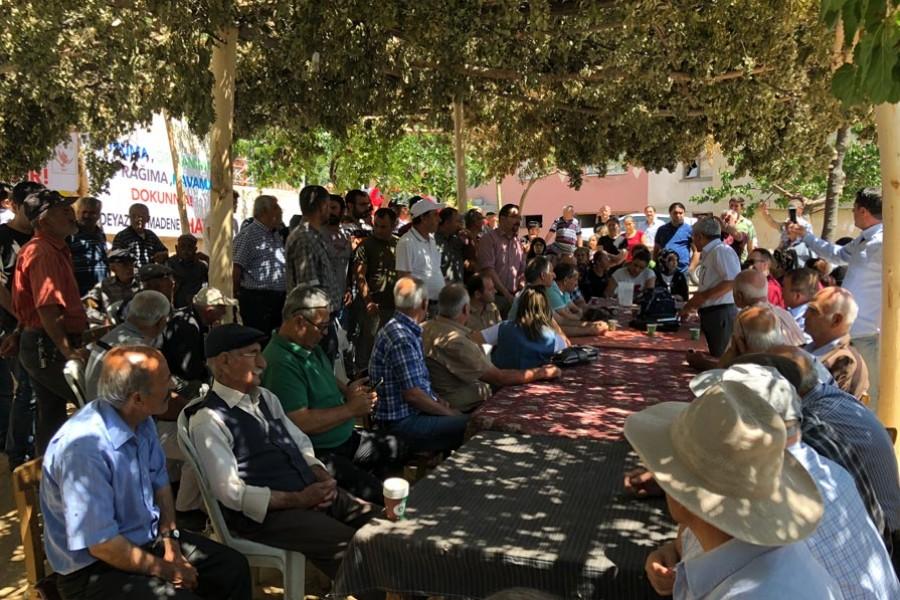 Malatya Dedeyazı'da ÇED toplantısında tepki