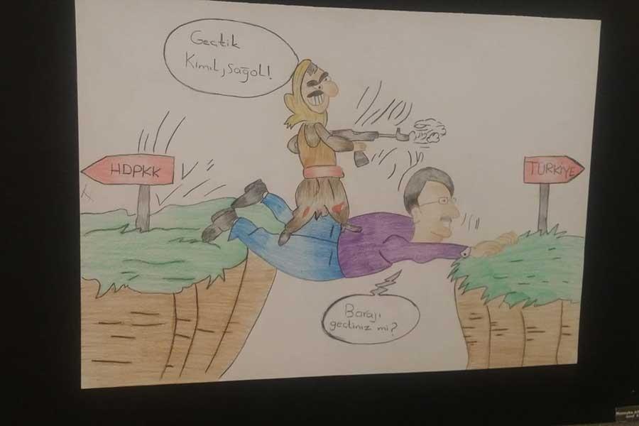 Suriyeli çocuklara HDP ve CHP'yi düşmanlaştırıcı resim çizdirildi