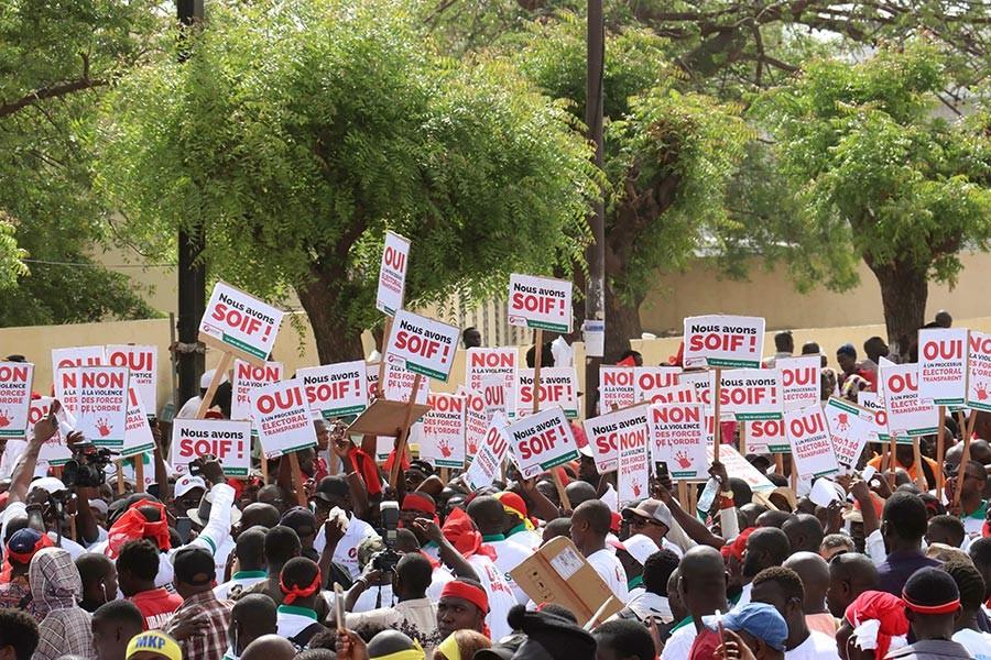 Senegal'in başkenti Dakar'da muhalefet ortak miting düzenledi