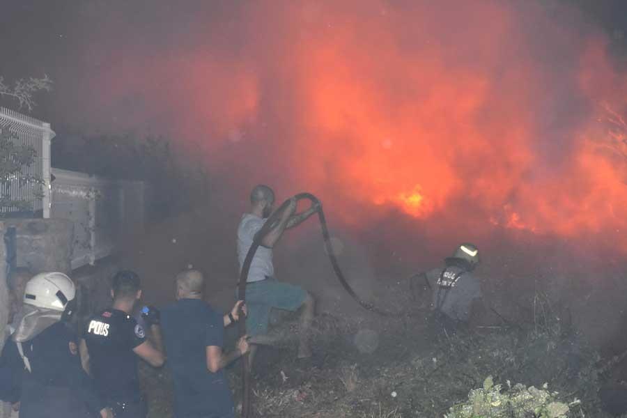 Bodrum'da çıkan yangında 3 hektarlık alan zarar gördü