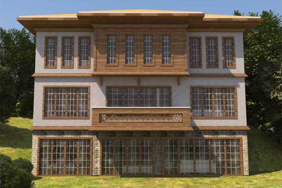 Betona dokunan değil betonla uyumlu proje