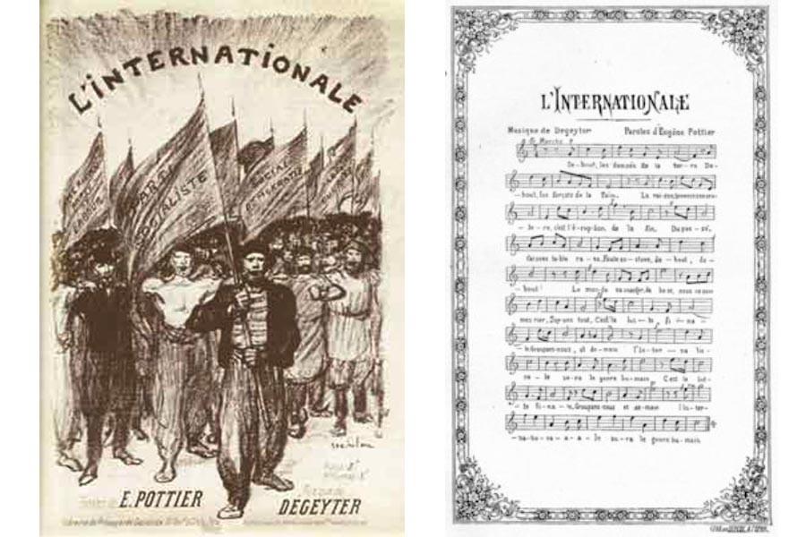 'ENTERNASYONAL'LE KURTULUR İNSANLIK'