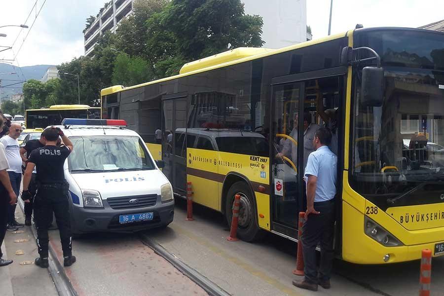 Bursa'da otobüste kadını taciz ettiği iddia edilen erkek gözaltında