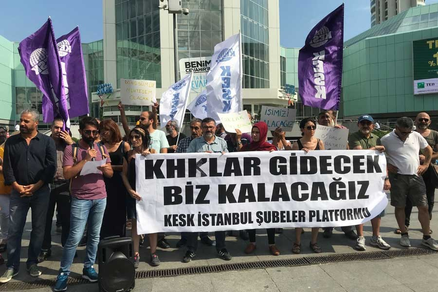 KESK İstanbul Şubeler Platformu: KHK'ler gidecek biz kalacağız