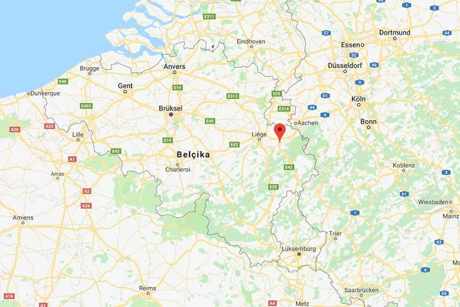 Belçika'da bir şahıs üzerindeki bombayı patlattı