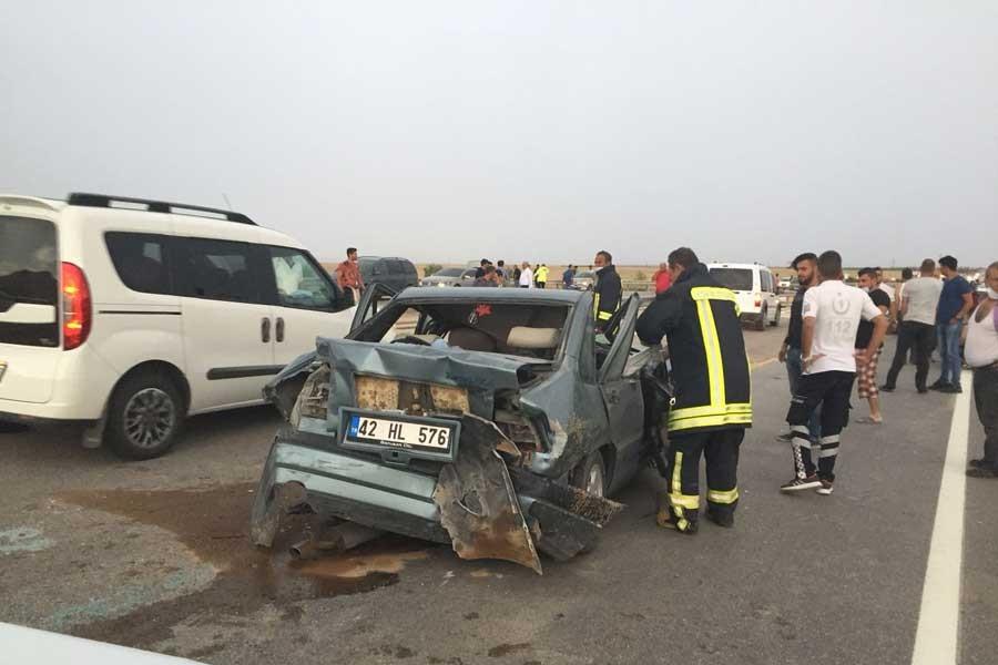 Konya'da 20 aracın karıştığı zincirleme kazalarda 17 yaralı