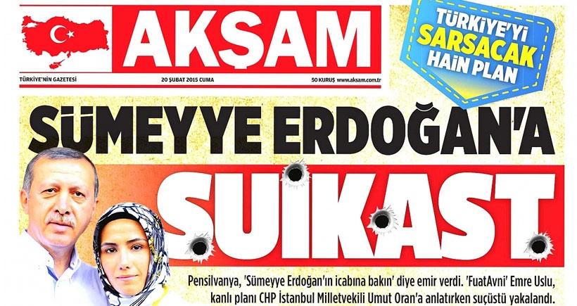 Şiraze kaydı: Sümeyye Erdoğan'a suikast düzenlenecekmiş!