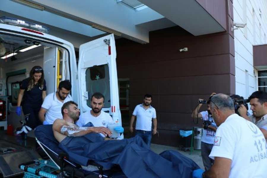 Mermer ocağında tiner kazanı patladı: Kardeş 2 işçi yaralı