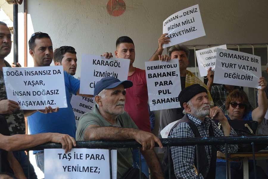 İzmir'in ciğerlerine taş ocağı projesi protesto edildi