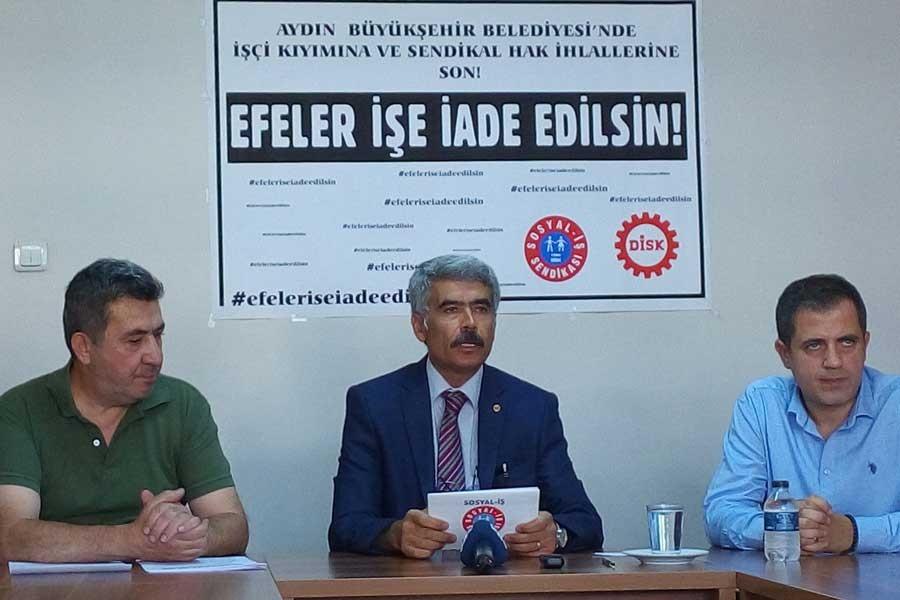 CHP'li Aydın Belediyesinin işçi düşmanlığına karşı harekete geçiliyor
