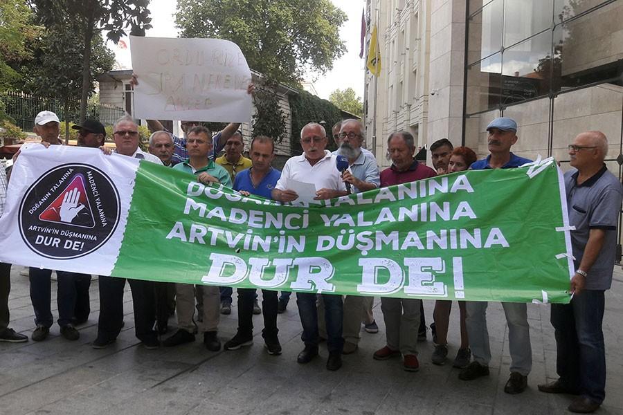 Galatasaray Meydanı'nda 'HES'leri durdurun' çağrısı