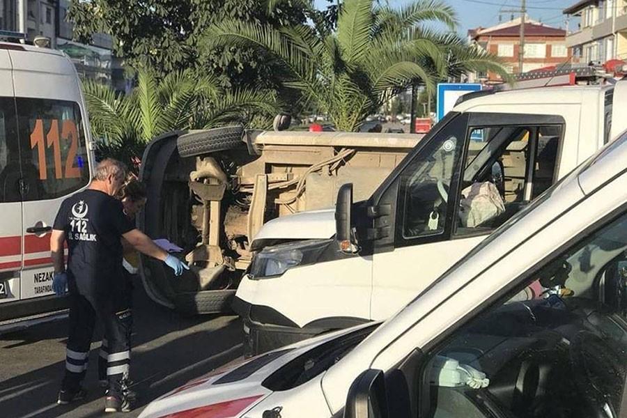 Ordu'da fındık işçilerini taşıyan minibüs kaza yaptı: 8 yaralı