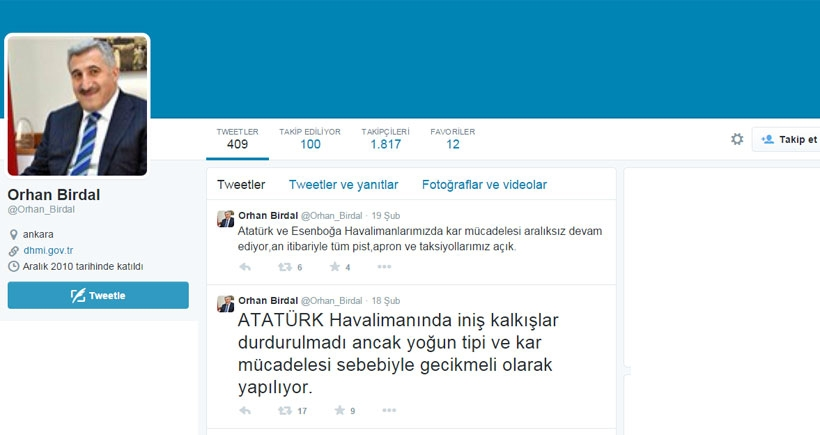 THY Başkanıyla Twitter'da atışan DHMİ Müdürü görevden alındı