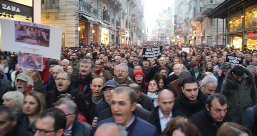 Polis devleti paketine karşı omuz omuza yürüyüş!