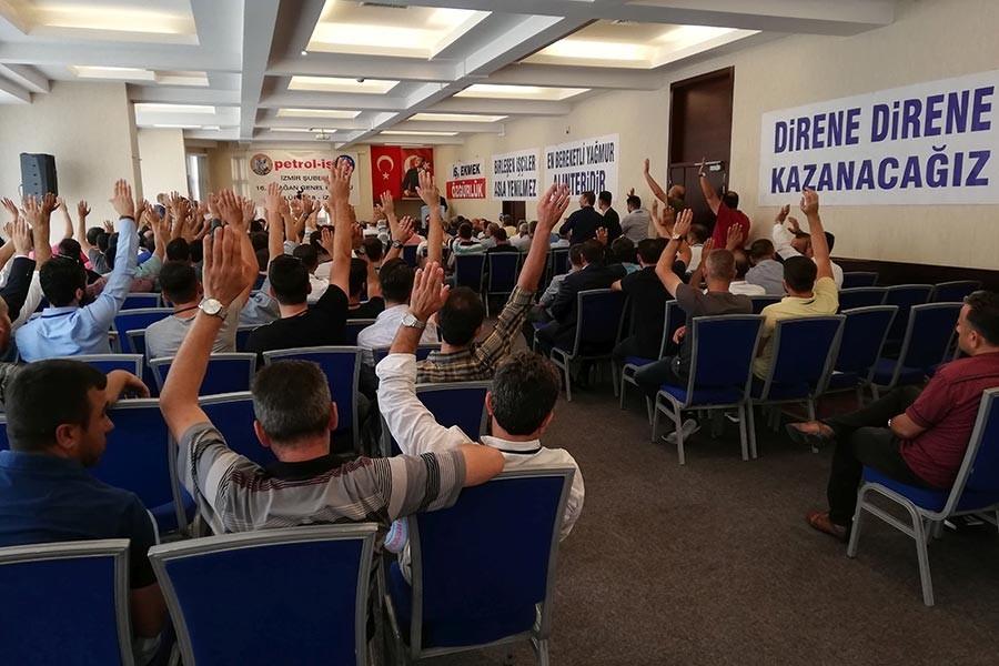 Petrol-İş İzmir Şube'de olağanüstü genel kurul talebi mahkemeye mi kalacak?