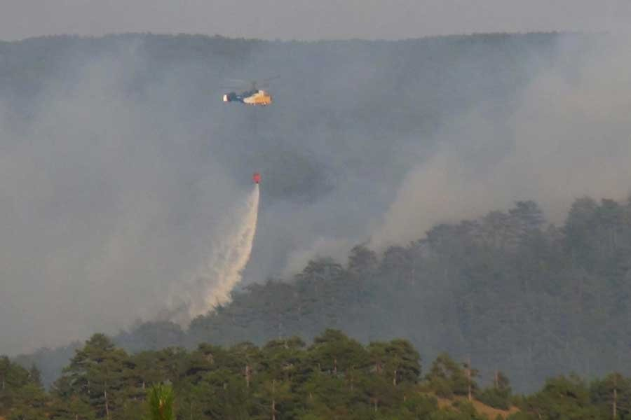 Kütahya'da çıkan orman yangını kısmen kontrol altına alındı