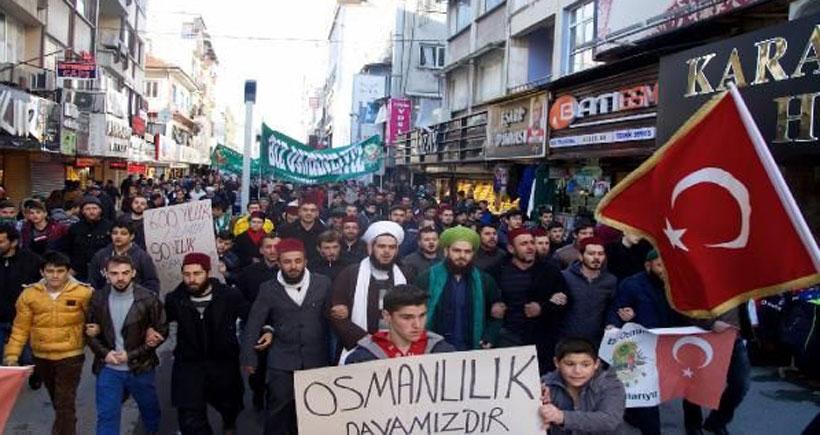 Valilik izinli 'Osmanlı' yürüyüşüne tepki