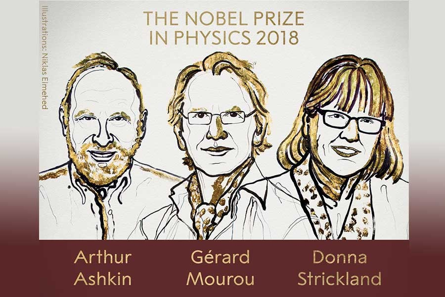Nobel Fizik Ödülü, A. Ashkin, G. Mourou ve D. Strickland'e verildi