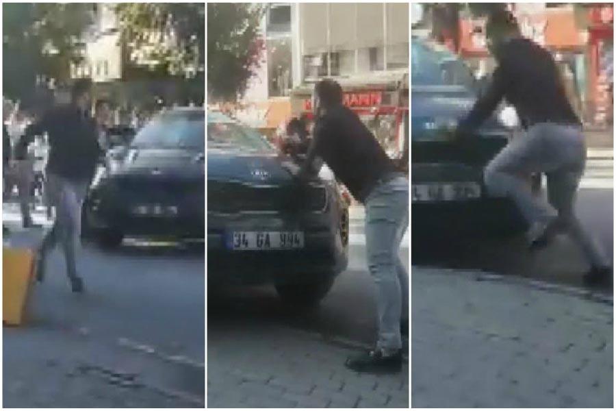Otomobili yayaların üzerine süren kişi gözaltına alındı
