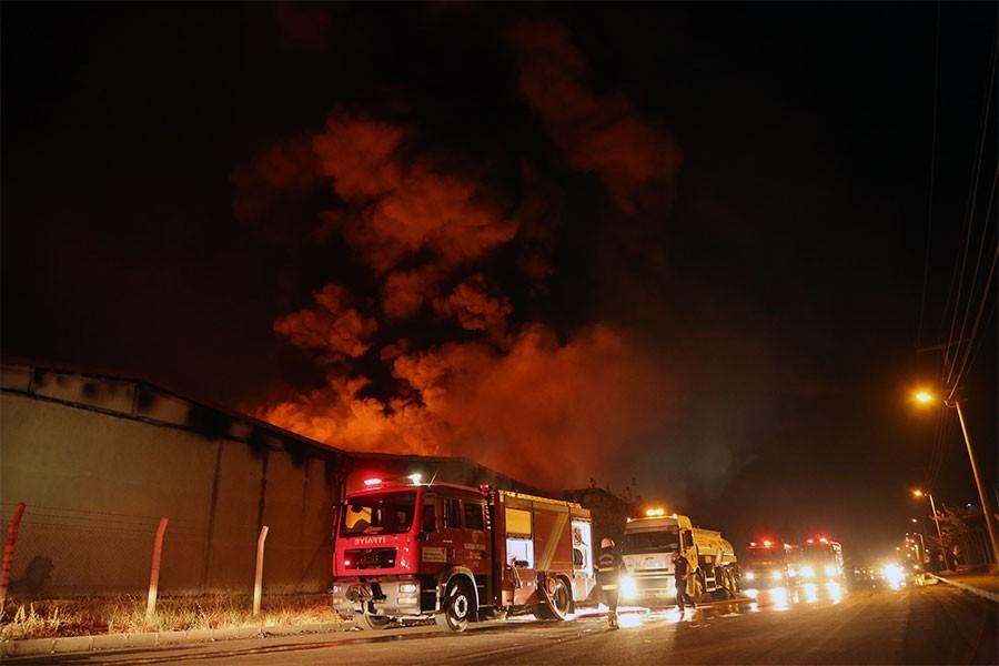 Maraş'ta tekstil fabrikasında yangın