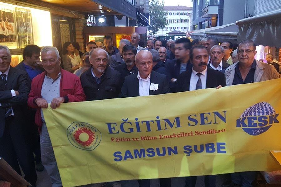 Samsun'da Öğretmenler Günü'nünde mücadele çağrısı