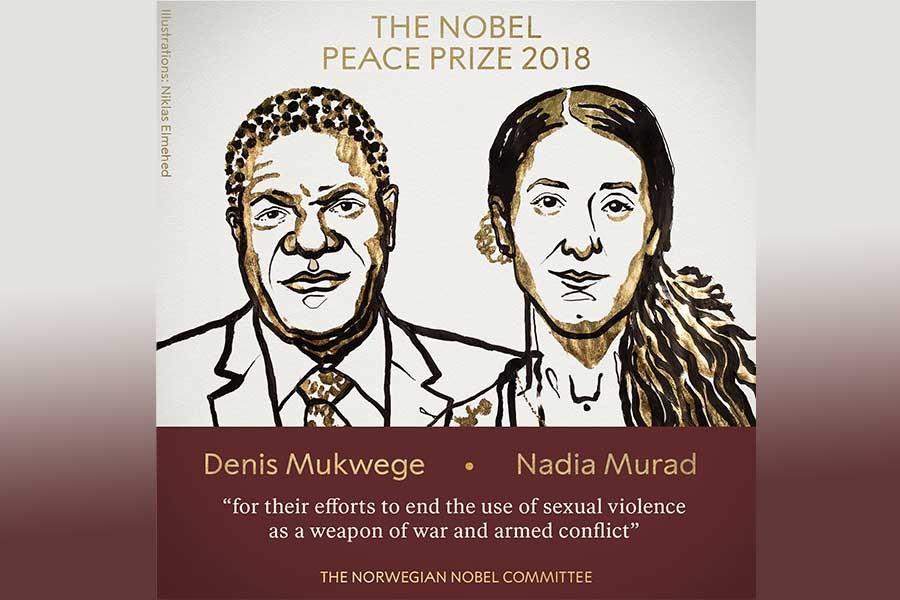 2018 Nobel Barış Ödülü, Denis Mukwege ve Nadia Murad'a verildi