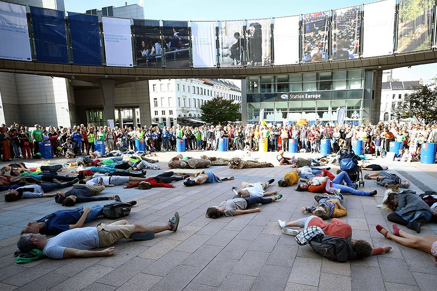 Avrupa'da küresel ısınma protestosu