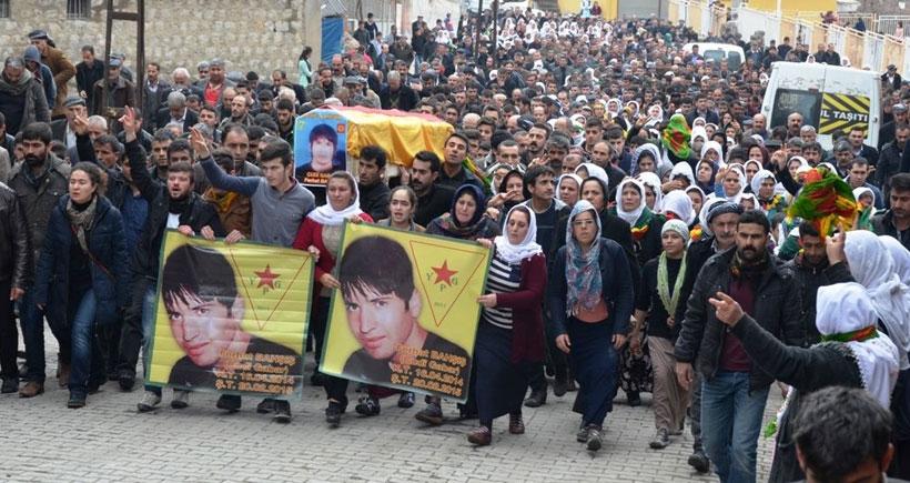 YPG'li Bahşiş son yolculuğuna uğurlandı
