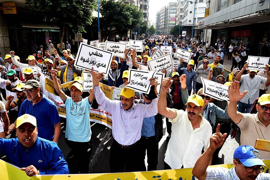Fas'ta binlerce kişi 'yolsuzlukla mücadele' çağrısı yaptı