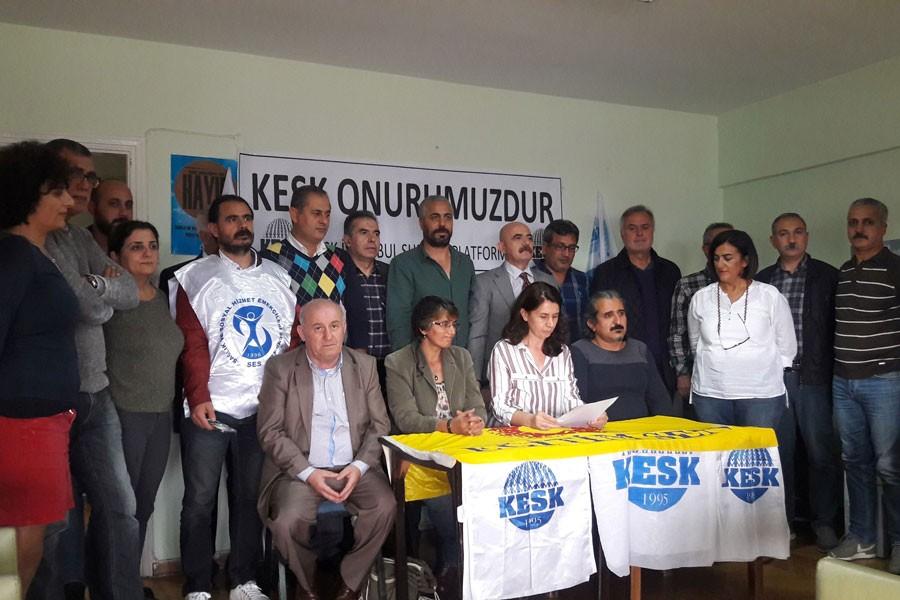 Pek çok ilde KESK'e destek açıklamaları yapıldı