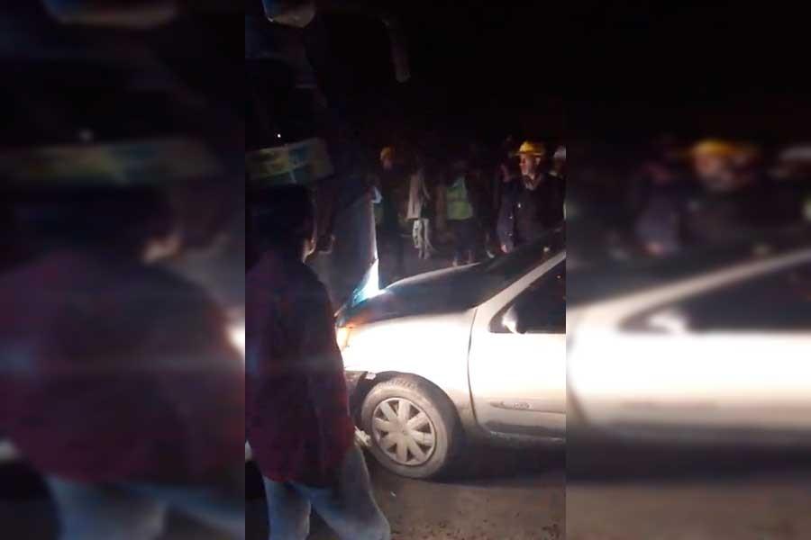 3. havalimanında işçileri taşıyan otobüs kaza yaptı