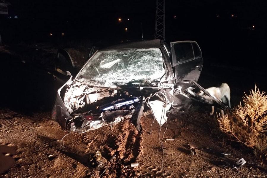 Dersim'de trafik kazası: 2 genç hayatını kaybetti