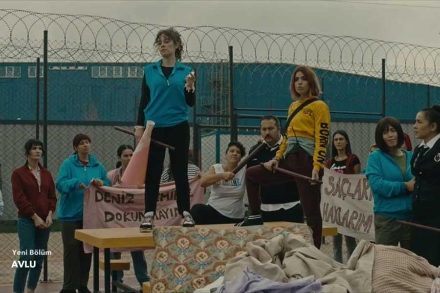 'Avlu' dizisinde cezaevinde isyan çıktı
