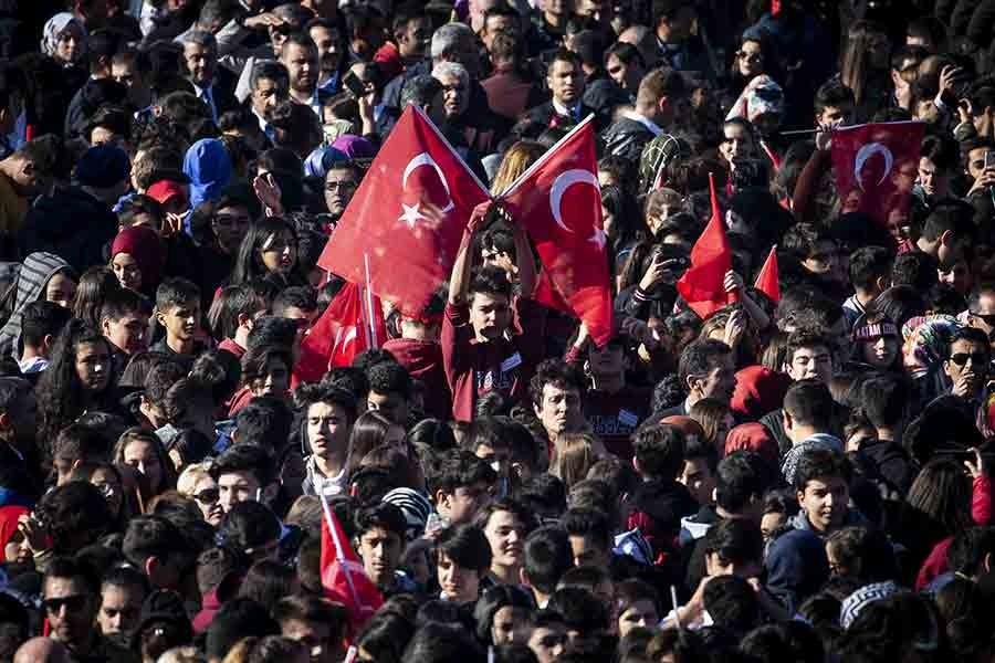 Türkiye Cumhuriyeti'nin 95'inci kuruluş yıl dönümü kutlanıyor