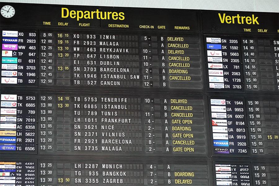 Brüksel Havalimanı'nda grev sürüyor