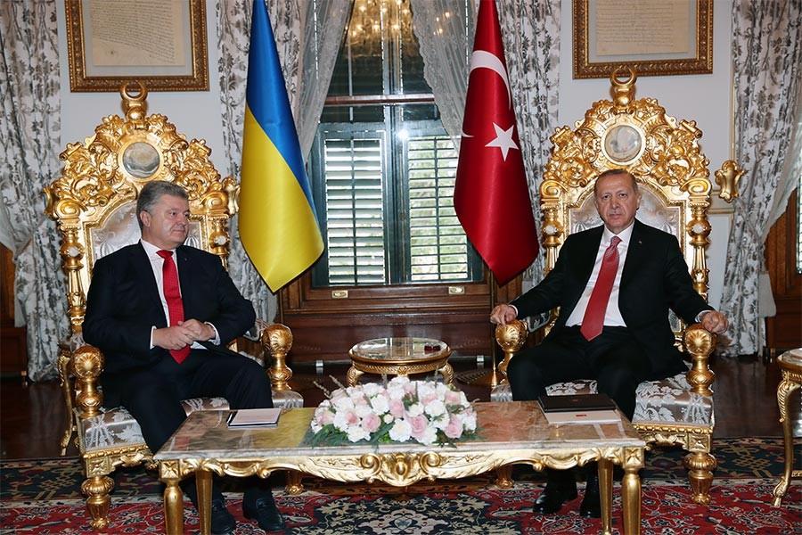 Erdoğan Ukrayna Devlet Başkanı Poroşenko ile görüştü