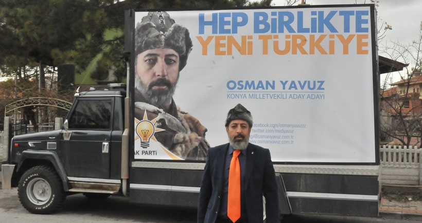 AKP'li aday adayından börklü afiş