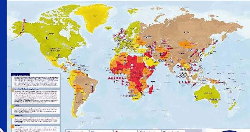 Türkiye seyahat için orta derece riskli ülkeler arasında