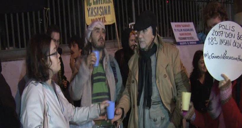 'İç Güvenlik Paketi'ni çorba dağıtarak protesto ettiler