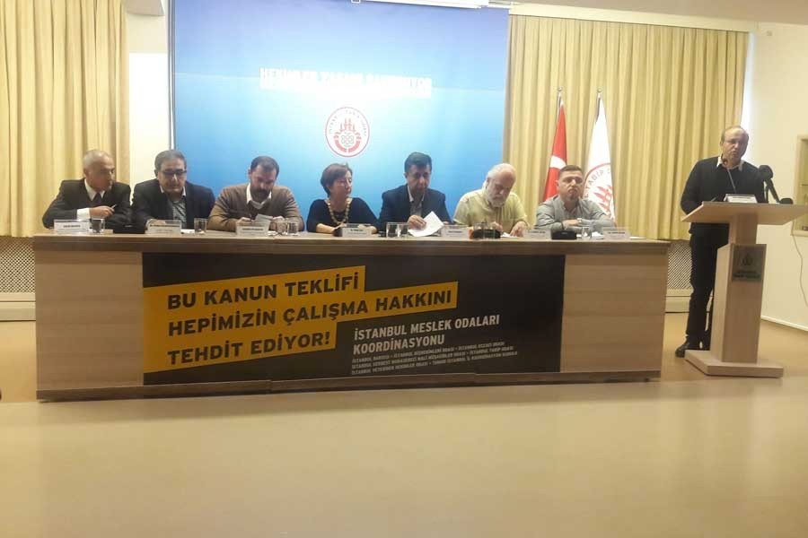 İstanbul Meslek Odaları: Kanun hepimizin çalışma hakkını tehdit ediyor