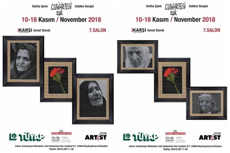 Cumartesi Annelerinin suretleri sanat fuarında