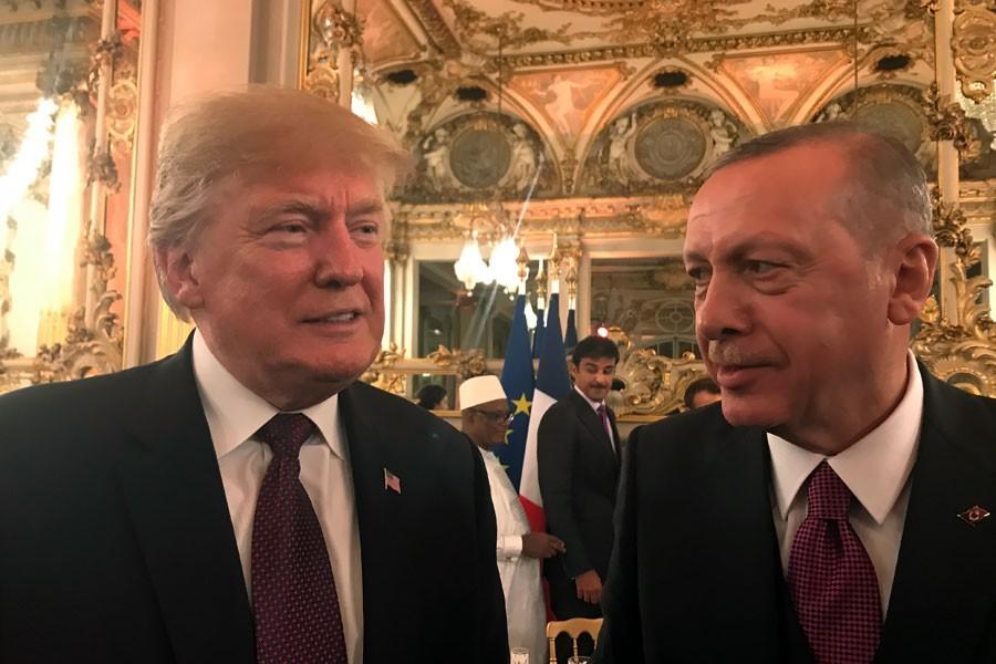 Trump ve Erdoğan G20'de ayaküstü görüştü