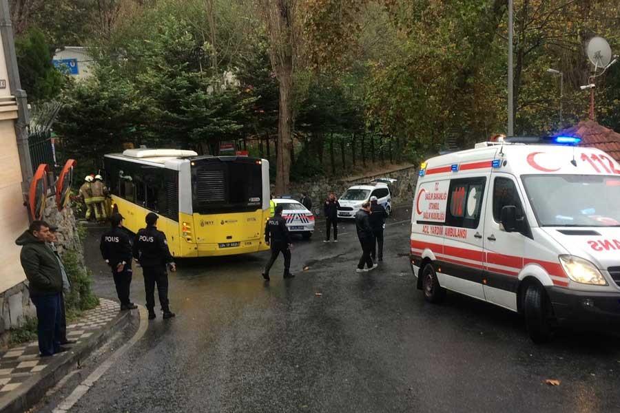 Kuruçeşme'de İETT otobüsü kaza yaptı, 9 kişi yaralandı